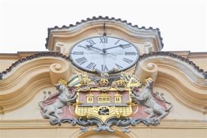 Znak na prùèelí Libeòského zámku