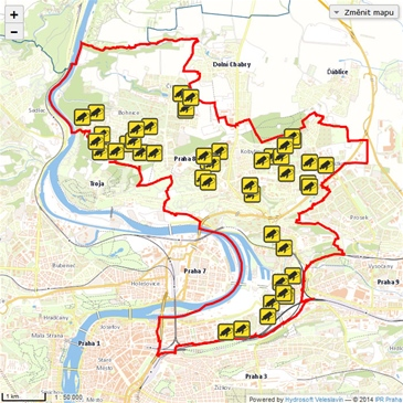 Mapa Praha Karlin Mapa