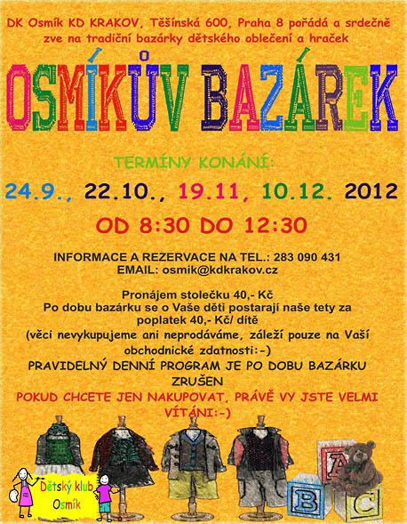 MČ Praha 8  Kalendář akcí - Osmíkův bazárek b12c9b414c