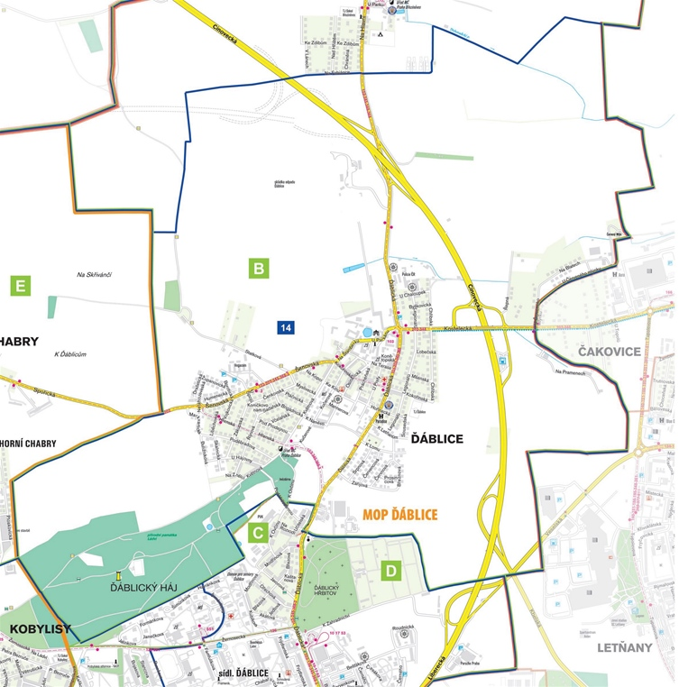 MP – mapa – okrsek 14